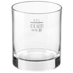 Szklanka niska do napojów 200 ml - z cechą