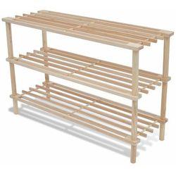 vidaXL Drewniany stojak na buty trzy poziomy dwie sztuki