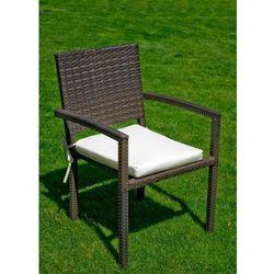 Bello giardino Krzesło technorattan brązowy
