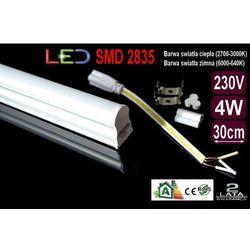 ŚWIETLÓWKA LED MILK w oprawie T5 4W 30cm zimna - produkt z kategorii- świetlówki