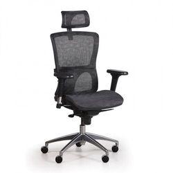 B2b partner Krzesło biurowe z siatkowanym oparciem lexi, czarne