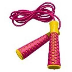 Skakanka  candy rope różowy żółty wyprodukowany przez Spokey