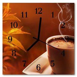 Zegar ścienny kwadrat kawa marki Tulup.pl