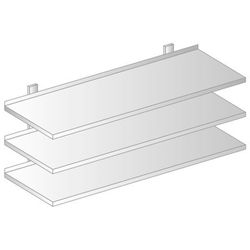 Półka wisząca przestawna 1300x300x1050 mm, potrójna   DORA METAL, DM-3505