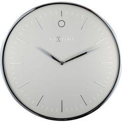 Nextime Nowoczesny zegar ścienny glamour 40 cm, szary / srebrny (3235 gs) (8717713021254)