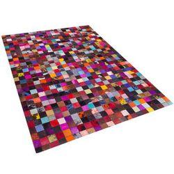 Dywan - kolorowy - skóra - patchwork - 160x230 cm - ENNE