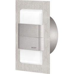 SKOFF Kinkiet DUO TANGO szlif [obud. INOX] W (biały zimny) - produkt z kategorii- Kinkiety