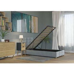 Łóżko 90x200 z pojemnikiem - bergamo welur szare marki Zona meble