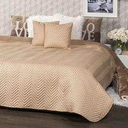 4home narzuta na łóżko doubleface jasnobrązowa /brązowa, 220 x 240 cm, 2 szt. 40 x 40 cm (8596175012525)