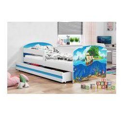 Łóżko Luka białe 80 x 160 różne wzory z materacem, 2273