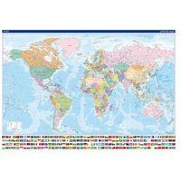 Mapa polityczna - Świat, rama aluminiowa