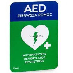 Tablica informacyjna AED DUŻA [ 30 x 42cm ] - sprawdź w wybranym sklepie