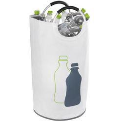 Uniwersalna torba Jumbo, pojemnik, na butelki, segregowanie, poliester, na pranie, kolor biały, uchwyty, marka WENKO (4008838240601)