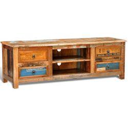 Drewniana półka pod TV vintage z 4 szufladami, marki vidaXL do zakupu w VidaXL