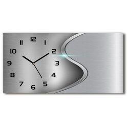 Zegar ścienny szklany metalowa abstrakcja marki Wallmuralia.pl