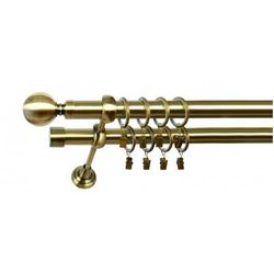 Karnisz Podwójny MARTA Ø19/19mm Kula : Rodzaj - Metalowy, Kolor Karnisza - Chrom, Mocowanie - Ścienne, dlug