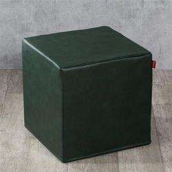 Dekoria pufa kostka twarda, ciemnozielony (eko-skóra), 40 × 40 × 40 cm, eco-leather do -30%