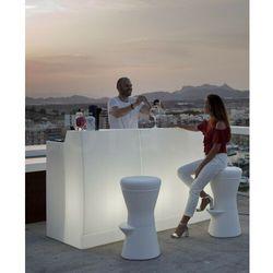 Sofa.pl New garden barek sicilia 120 solar biały - led, sterowanie pilotem
