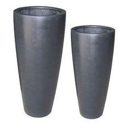 Donica ogrodowa KLOSTERS okrągła czarna 80cm, produkt marki Miloo