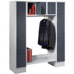 Szafa na garderobę, otwarta, wys. x szer. całk.: 1850x1500 mm, 13 półek, bazalto marki Eugen wolf