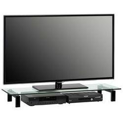 Maja-möbel Stolik pod telewizor, 110 cm, czarny, szkło, metal, 16059599