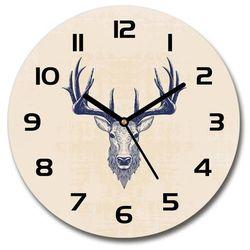 Zegar szklany okrągły Kłowa jelenia