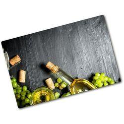Deska do krojenia hartowana Białe wino i owoce