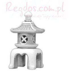 Lampa betonowa ogrodowa, wzór chiński domek 65cm