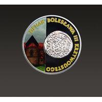 Historia Monety Polskiej - denar Bolesława III Krzywoustego 2014 - moneta malowana jednostronnie
