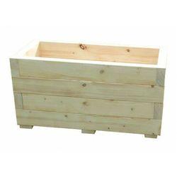 Drewniana prostokątna donica ogrodowa 15 kolorów - paola marki Elior
