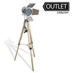 Nowoczesna lampa podłogowa - 17-xb12 - drewniane regulowane nogi marki Emwomeble
