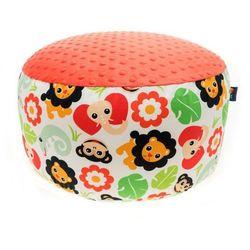 Cuddly Zoo, Safari, Tomato, duża pufa z kategorii Pozostałe meble do pokoju dziecięcego