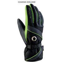 Męskie rękawice narciarskie  trick czarno-zielony 7 marki Viking