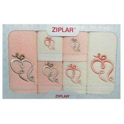 Ziplar Komplet ręczników 6 szt. łososiowy/ekri