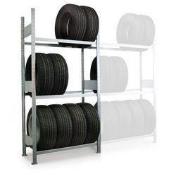 Regały do magazynowania opon, 2500x1000x400 mm, podstawowy marki Meta