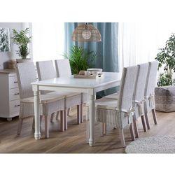 Beliani Stół do jadalni biały 180 x 90 cm cary (4260624112855)