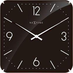 Zegar ścienny Basic Square Dome black by Nextime, 3175