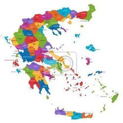 Naklejka Mapa podziału administracyjnego Grecji, Redro z REDRO