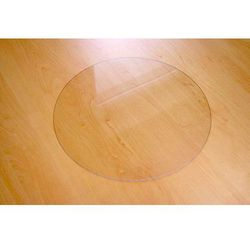 Podkładka ochronna np. pod doniczkę - średnica 50cm - okrągła, przezroczysta - produkt dostępny w MaxiMat- maty pod krzesła
