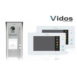 Zestaw cyfrowy wideodomofon dwurodzinny s1102a_m1021w biały marki Vidos