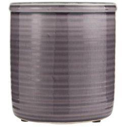 Ib Laursen - Doniczka ceramiczna szkliwiona fioletowa wysoka