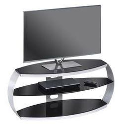 Stolik pod telewizor METAL ALU, rtv, 122 cm, czarny 16339442