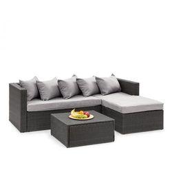Blumfeldt Theia Lounge Set Komplet mebli ogrodowych, czarny/jasnoszary