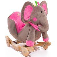 Bujak jeździk KINDERKRAFT Grający Słoń Różowy