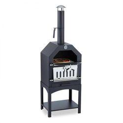 Klarstein Pizzaiolo Piec do pizzy Grill Wędzarnia stal Kamień do wypiekania pizzy