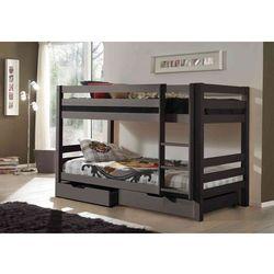 Łóżko dla dzieci piętrowe Pino - sosna ciemnoszara