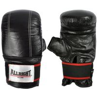 Allright  rękawice bokserskie czarne pu sbrtkzxl [4 rozmiary]