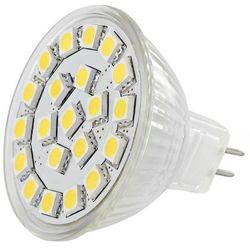 LED REFLEKTOR WHITENERGY MR16,21SMD 5050,GU5.3, 4W,12V,CIEPLA BIALA 4875