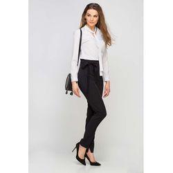 Czarne spodnie cygaretki z wiązaną szarfą, Lanti, 34-44