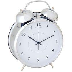 Nextime  wake up 20 cm, biały/srebrny (8717545056653)